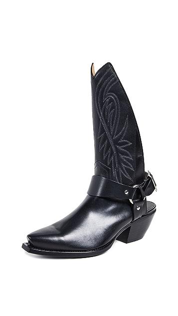R13 Tall Half Cowboy Boots w/ Harness