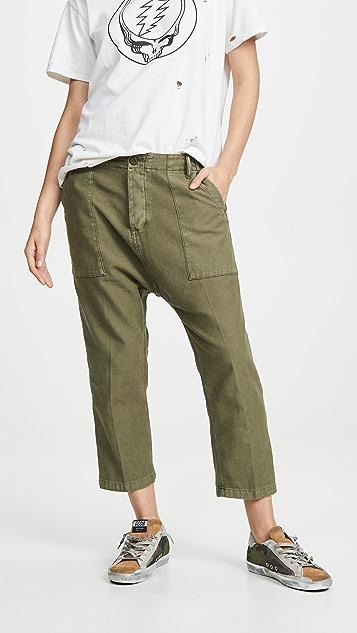R13 Практичные брюки с заниженным шаговым швом