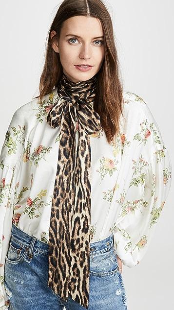 R13 Блуза с завязкой на шее