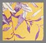 芥末黄花卉融入豹纹