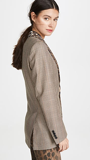 R13 Блейзер в стиле смокинга с лацканами и воротником-шалью