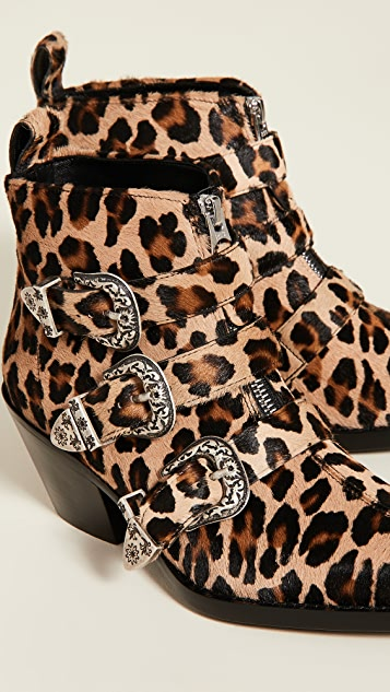 R13 Three Buckle Ankle Boots