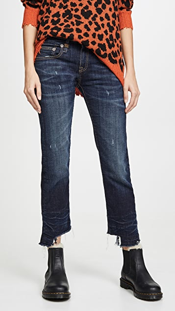 R13 Прямые джинсы-бойфренды