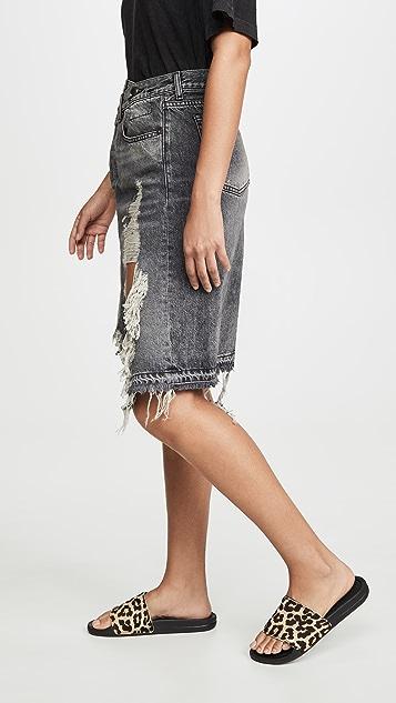 R13 Norbury 牛仔布半身裙