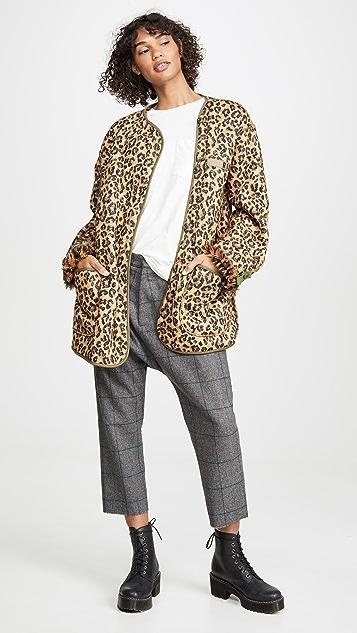 R13 Куртка на подкладке в стиле милитари