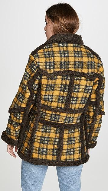 R13 人造绵羊皮外套