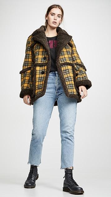 R13 Imitation Sheepskin Coat