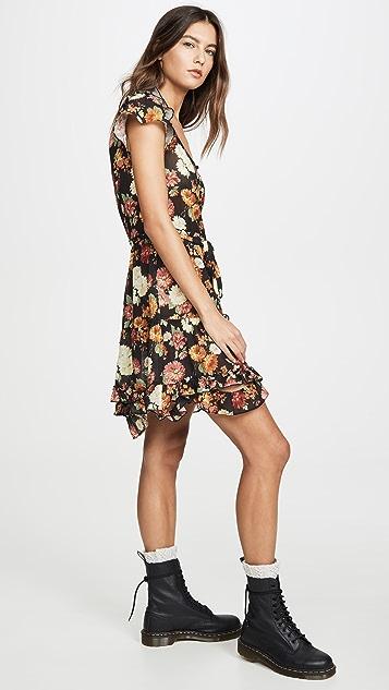 R13 Платье-комбинация с эффектом поношенности