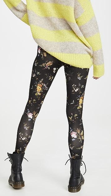 R13 花朵印花贴腿裤