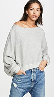 R13 Off Shoulder Patti Sweatshirt