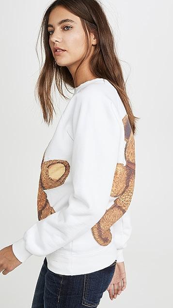 R13 T-shirts Teddy Bear Crew Neck Sweatshirt