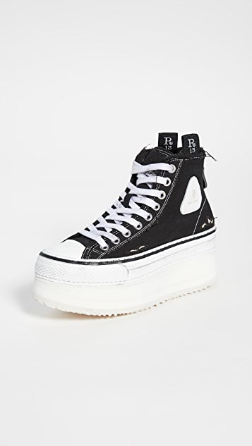 R13 Platforms Platform High Top Sneakers
