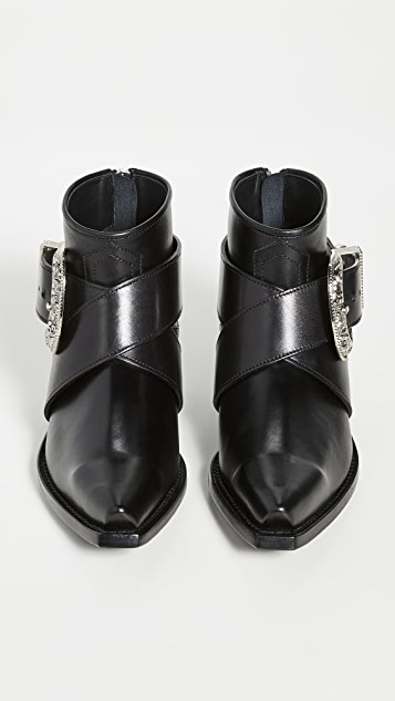 R13 西部风格搭扣牛仔短靴