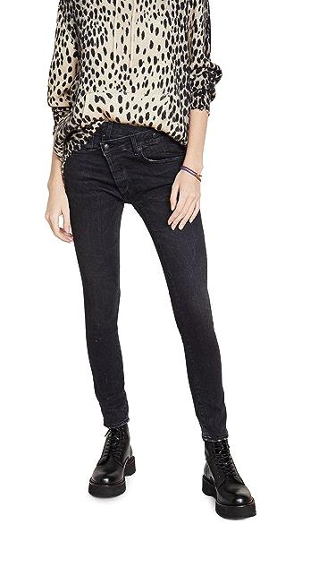 R13 Cross Over Skinny Jeans