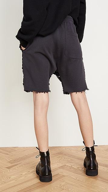 R13 Sequin Harem Shorts