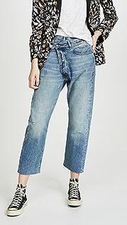 R13 R13 交叠细节牛仔裤