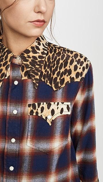 R13 Exaggerated Collar Cowboy 衬衫