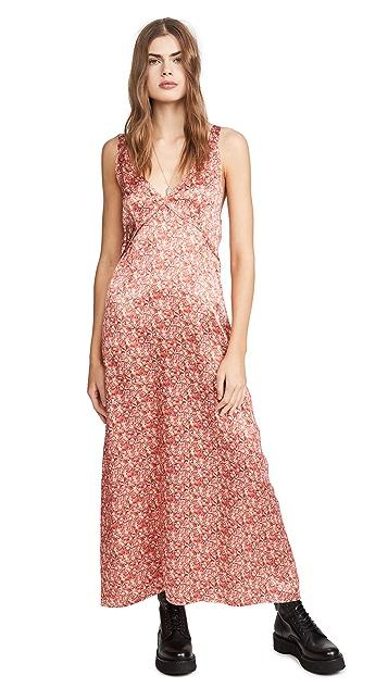 R13 Длинное платье-комбинация
