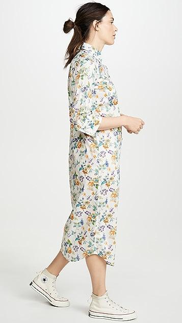 R13 七分袖牛仔连衣裙