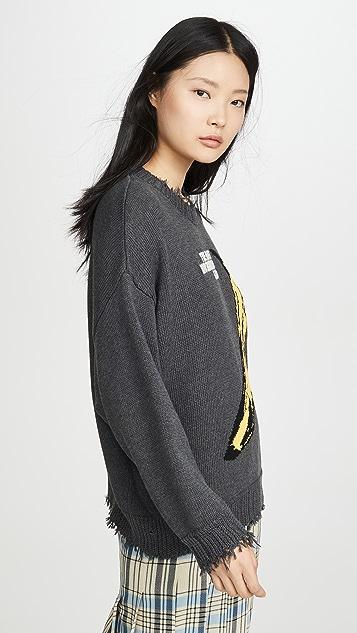 R13 Velvet Underground Oversized Sweater