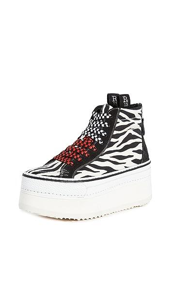 R13 High Top Skate Platform Sneakers