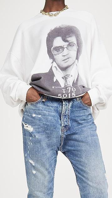 R13 Elvis T 70 超大圆领运动衫