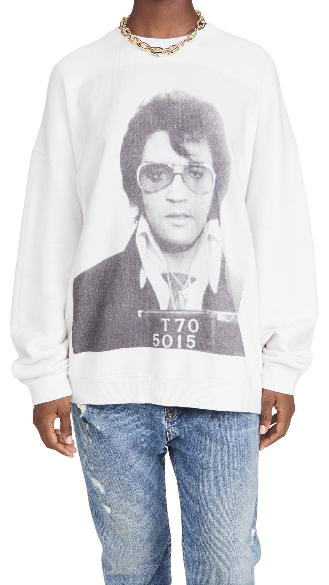 R13 Elvis T 70 Oversized Crew Neck Sweatshirt