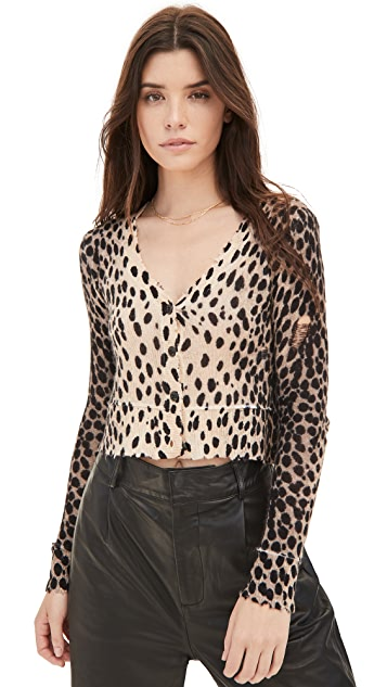 R13 Cashmere Cheetah Baby Cardigan