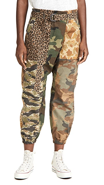 R13 交叠实用低裆长裤