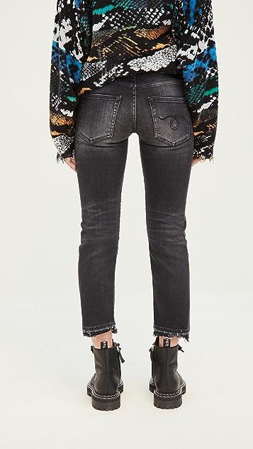 R13 男孩风格直脚牛仔裤