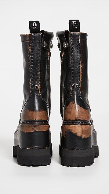 R13 Medium Platform Boots