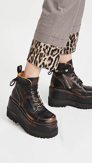 R13 Ankle Platform Boots