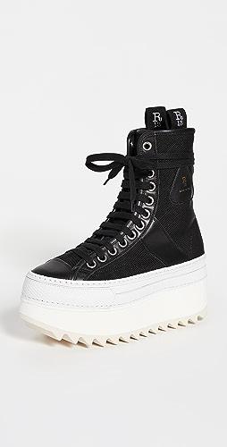 R13 - 尼龙厚底高帮冬季运动鞋