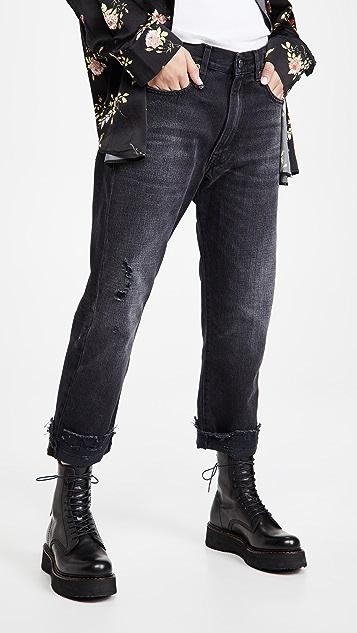 R13 男友风格牛仔裤