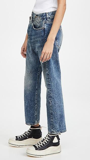 R13 交叠牛仔裤