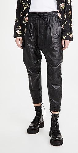 R13 - 皮吊裆裤