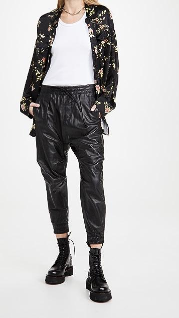 R13 皮吊裆裤