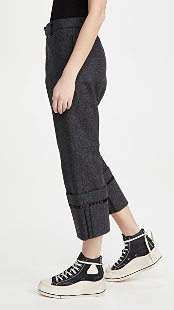 R13 Tailored Crossover Pants with Wide Cuff