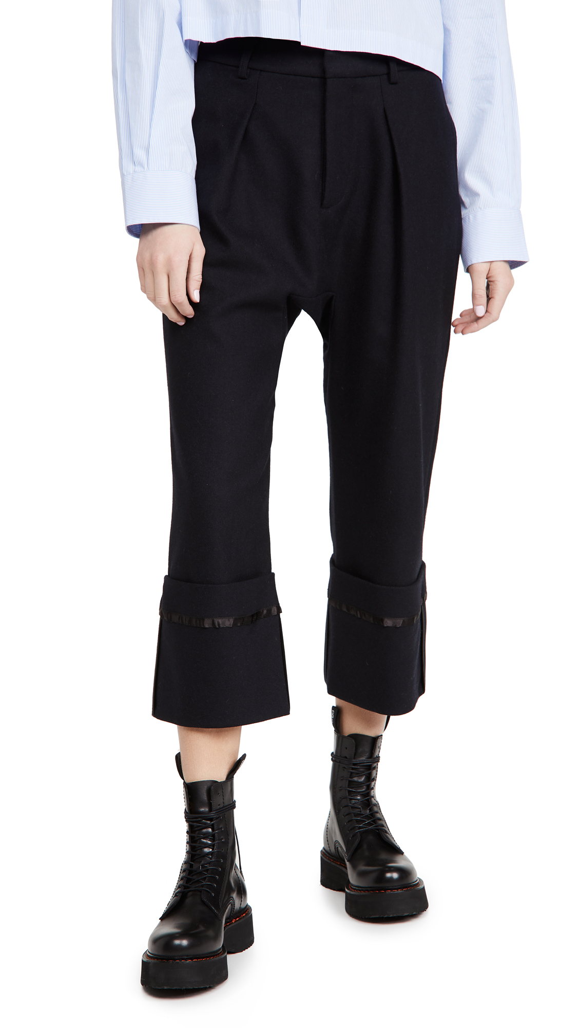 R13 Long Rise Pants with Wide Cuff Pants