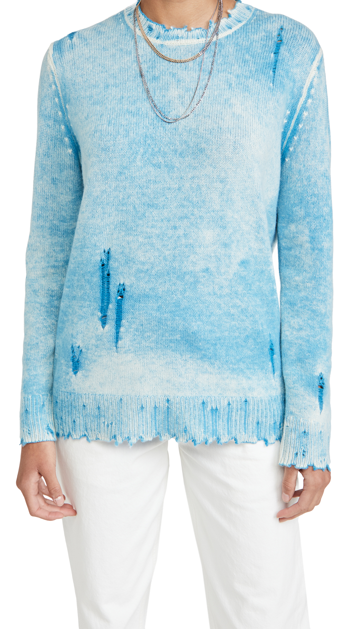 R13 Faded Cashmere Crew Neck Sweater