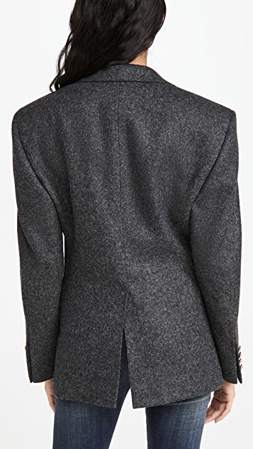 R13 Strong Shoulder Notch Lapel Blazer