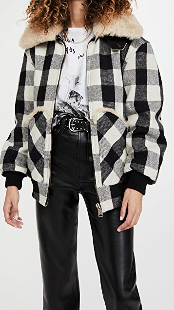 R13 Exaggerated Collar Bomber Jacket
