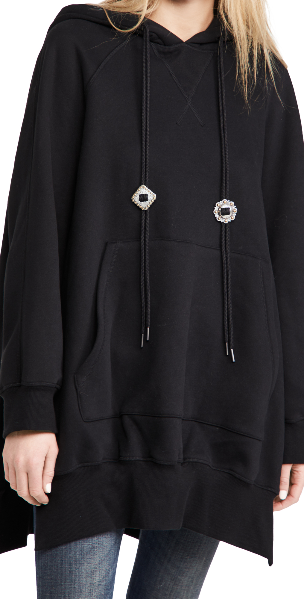 R13 Oversized Hoodie Cape