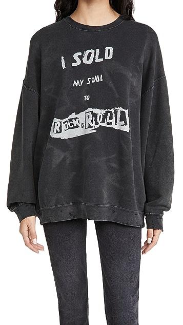 R13 I Sold My Soul 超大圆领运动衫