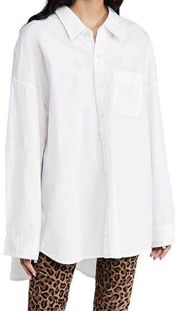 R13 低领牛津布衬衫