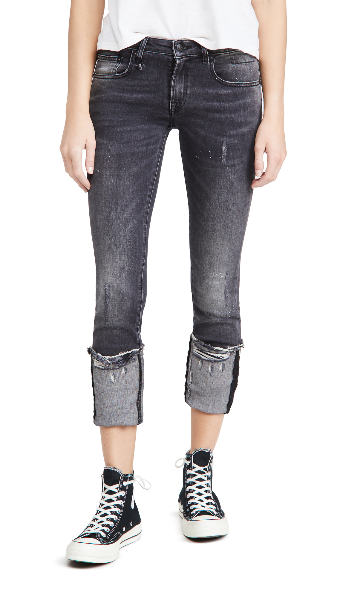 R13 Kate Skinny Jeans with Cuff