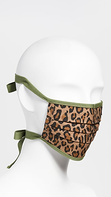 R13 豹纹面罩