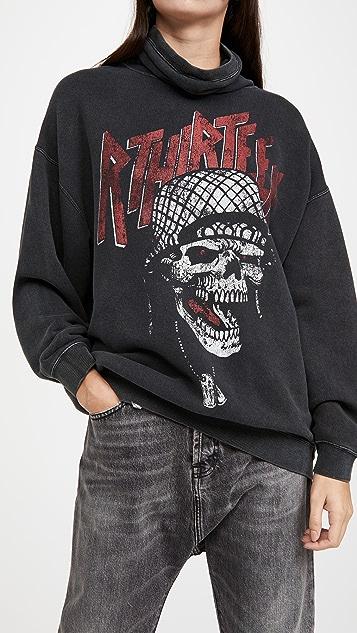 R13 #MaskUp Battle Punk 复古绒布圆领运动衫