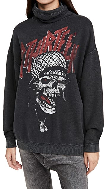 R13 #MaskUp Battle Punk Vintage Fleece Crew Sweatshirt