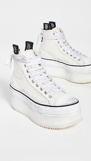 R13 Platform High Top Sneakers